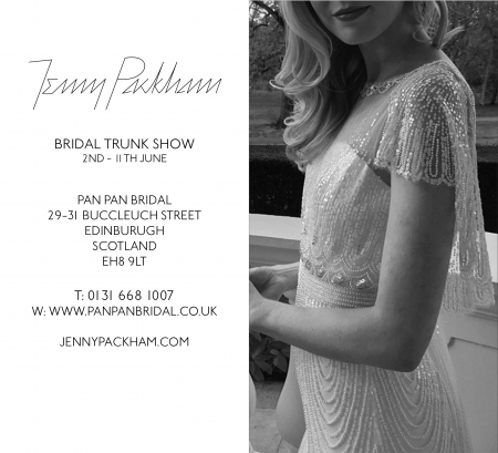 Jenny Packham Bridal Trunk Show – 2nd – 11th June